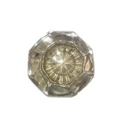 Antique Octagonal Glass Knob With Nickel Base Antique Hardware, Antique Brass, Lock Set, Glass Knobs, Oriental Pattern, Wooden Flooring, Door Knobs, Polished Nickel, Solid Brass