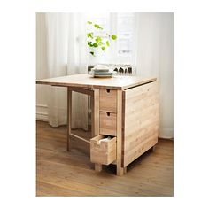 Love the idea of this space saving table - NORDEN Gateleg table - birch - IKEA Dining Room Furniture, Dining Room Table, Table And Chairs, Furniture Design, Dining Chairs, Kitchen Tables, Ikea Dining, Ikea Furniture, Dining Set