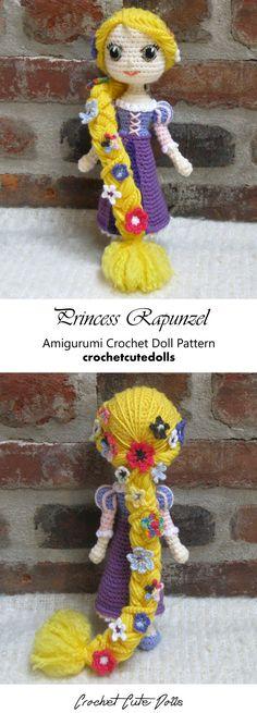 Amigurumi Crochet Doll Pattern & Tutorial for the Disney Princess Rapunzel from Tangled by Crochet Cute Dolls