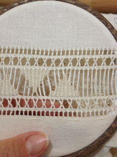 Nitka Czarodziejka: A robiło się to tak. Hardanger Embroidery, Diy Embroidery, Cross Stitch Embroidery, Hand Embroidery Flowers, Hand Embroidery Designs, Embroidery Patterns, Monks Cloth, Drawn Thread, Embroidered Bag
