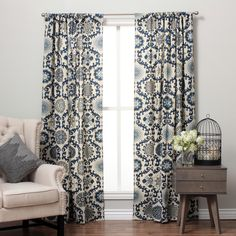 Suzani Cotton Print Rod Pocket Curtain Panel | Overstock™ Shopping - Great Deals on Curtains