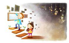 نقاشی کودکانه پرنسس های دیزنی