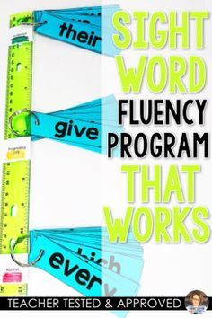 Sight Word Fluency Sticks are a powerful tool for you to use to meet the needs and ability levels in your Kindergarten, grade or grade classroom. 2nd Grade Ela, First Grade Reading, First Grade Classroom, Kindergarten Classroom, Second Grade, Reading Centers, Reading Fluency, Reading Intervention, Reading Skills