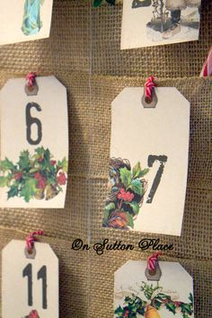 DIY Advent Calendar from On Sutton Place | Easy to follow tutorial. This will last for years too.