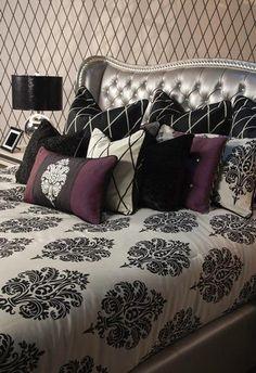 Traumzimmer, Traum Schlafzimmer, Schlafzimmer Ideen, Schlafzimmerdeko, Bett  Ideen, Silbernes Schlafzimmer