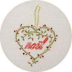 Forever Noel Embroidery Pattern PDF by polkaandbloom on Etsy