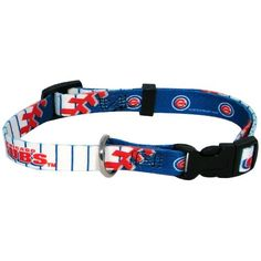 Hunter MFG Chicago Cubs Dog Collar, Large - http://www.petsupplyliquidators.com/hunter-mfg-chicago-cubs-dog-collar-large/