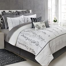 This is our bed set!!!!  (without the decorative pillows and those two dark grey euro shams in the back) I love it!