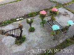 What's On My Porch: How To Make Fairy Furniture - Garten Dekoration Fairy Garden Furniture, Fairy Garden Houses, Gnome Garden, Fairy Gardening, Garden Homes, Fairies Garden, Container Gardening, Ideias Diy, Garden Crafts