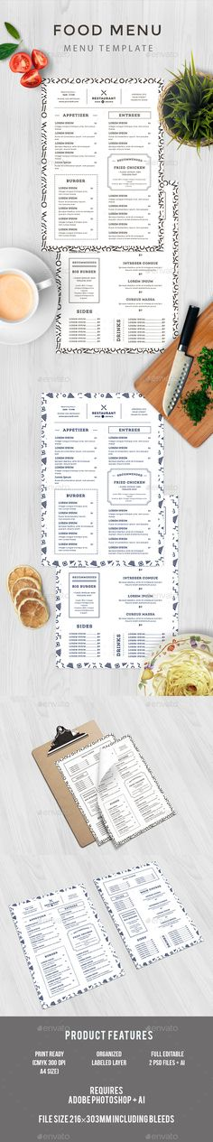 Food Menu — PSD Template #modern #food • Download ➝ https://graphicriver.net/item/food-menu/18276010?ref=pxcr