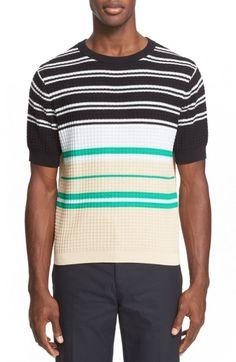 Acne+Studios+Men's+Short+Sleeve+Stripe+Sweater+ +Clothing