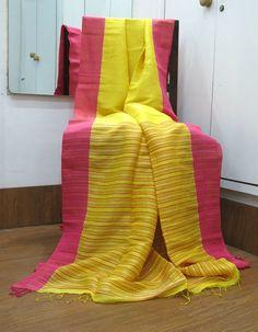 Fab yellow linen silk