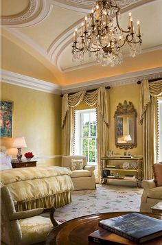 Interior Designer Elissa Cullman Introduced Color And Pattern To This Elegant Master Bedroom With A Cream