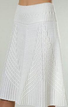 Красивая юбка спицами.
