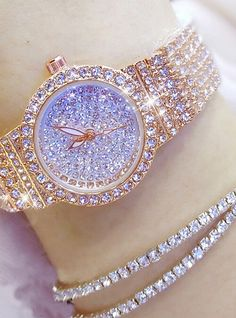 Women's Luxury Watches Diamond Watch Gold Watch Japanese Quartz Stainless Steel Silver / Gold / Rose Gold 30 m Casual Watch Analog Ladies Charm Fashion - Gold Silver Rose Gold 2019 - € Stylish Watches, Casual Watches, Luxury Watches For Men, Cheap Watches, Women's Watches, Analog Watches, Wrist Watches, Cute Jewelry, Silver Jewelry