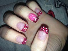 Gel Nails. Valentine's day. Nail Innovationz!