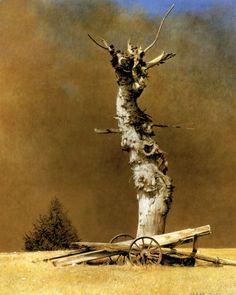 Marzio Tamer, Bird's sound, tempera on board, cm 50 x 40 www.salamongallery.com  www.salamongaller... | #realism #landscape #nature #figurative #contemporary #art
