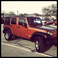 Jeep Wrangler in burnt orange. Yes please (: