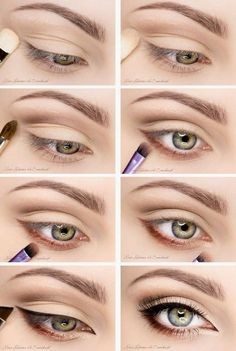 eye makeup for brown eyes ; eye makeup for blue eyes ; eye makeup tips ; eye makeup for green eyes Natural Eye Makeup, Eye Makeup Tips, Makeup Hacks, Skin Makeup, Makeup Inspo, Makeup Inspiration, Beauty Makeup, Makeup Tutorials, Makeup Ideas
