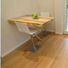 tavolo snack in legno grezzo