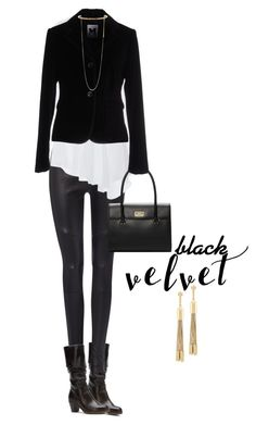 """BLACK velvet"" by simply-one ❤ liked on Polyvore featuring Calvin Klein, Monographie, Kate Spade, M Missoni, STELLA McCARTNEY, Eddie Borgo and velvet"