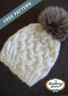 Don this wondrous winter cable knitted hat when you are out and about. It is designed to keep you warm and ultra snug. Get the FREE pattern for . Winter Knitting Patterns, Fall Knitting, Knitting For Kids, Knit Slippers Free Pattern, Baby Hat Patterns, Cable Knit Hat, Lana, Knitted Hats, Crochet