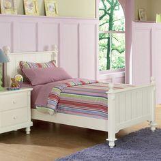 Macedonia White Twin Bed