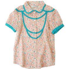 リバティシノワ / ブラウス : TSUMORI CHISATO ツモリチサト | HUMOR ユーモア ❤ liked on Polyvore featuring tops, blouses, shirts, pink shirt, pink top, tsumori chisato, shirts & tops und pink blouse