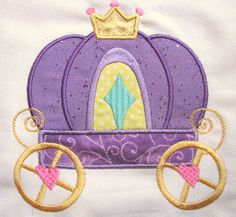 Princess Carriage Machine Applique Embroidery Design  by KCDezigns, $3.50