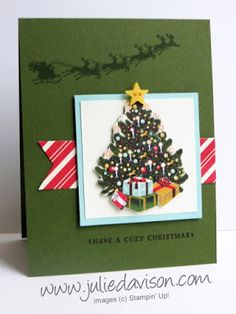 Julie's Stamping Spot -- Stampin' Up! Project Ideas by Julie Davison: O Christmas Tree Cozy Christmas Card