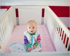 JellyBean Pictures captures this cute in a classic muslin sleeping bag via @Jennifer Tonetti-Spellman