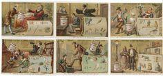 1883/1885 - COMPAGNIE LIEBIG - 70 x 104 mm - REBUS I. Série complète des 6 chromos[...] | Auction.fr
