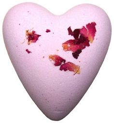 ROSE PETAL BATH HEART. Megafizz Bath Hearts are fragrant bath additions. Drop one into your bath and watch it fizz and bubble and add fragrance (and sometimes flowers or glitter) to your bath. Only £1.99
