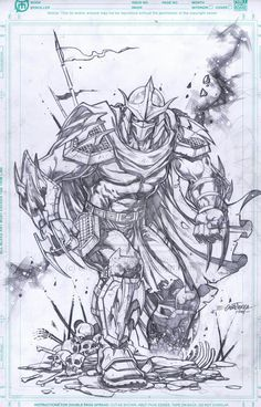 Shredder by emilcabaltierra on DeviantArt Teenage Ninja Turtles, Ninja Turtles Art, Comic Books Art, Comic Art, Shredder Tmnt, Character Art, Character Design, Arte Hip Hop, Arte Dc Comics