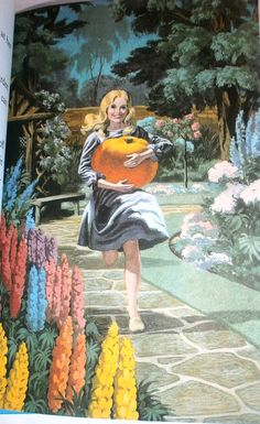 Ladybird Book Cinderella 1964 - Cinders finds the pumpkin for her coach. My favourite childhood story! Rapunzel, Children's Fairy Tale Books, Fairy Tales, Children's Book Illustration, Botanical Illustration, Book Illustrations, Cinderella, Ladybird Books, Vintage Children's Books