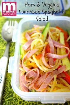 Lunchbox Recipes: Ham & Veggies Spaghetti Salad - Recipes Lunch Box Recipes, Ham Recipes, Brunch Recipes, Cooking Recipes, Brunch Ideas, Great Pasta Recipes, Salads For Kids, Spaghetti Salad, 30 Minute Meals