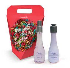 01Deo-Colônia Lacqua Perfumada Lavanda120ml + 01 Emulsão Hidratante Lacqua Perfumada Lavanda 120g + 01 Caixa Presente Smell Good, Lavender, Moisturizer, Art