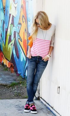 pink, casual outfit, #streetstyle