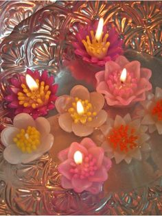 Flower Blossom Floating Candles
