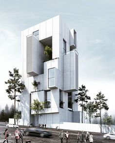 Velenjak residential building designed by Saeb Alimohammadi in The construction of a building on a land whose current use… Futuristic Architecture, Facade Architecture, Amazing Architecture, Contemporary Architecture, Cultural Architecture, Residential Building Design, Fachada Colonial, Building Facade, Facade Design