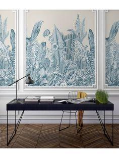 Interior Wallpaper, Interior Walls, Interior Design, Wall Panel Design, Motif Art Deco, Cactus Wall Art, Wall Molding, Moldings, Wallpaper Panels