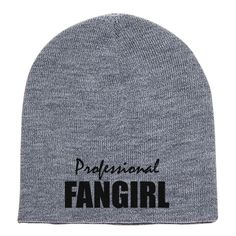 Professional Fangirl Embroidered Knit Beanie