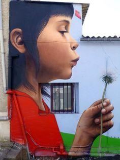 hyper realistic mural painted by Sfhir