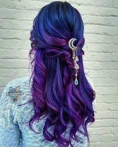 hair dye ideas colorful, Unique combination of awesomeness and femmine between the magnificent hair color and that wonderful wonderful hair accessory