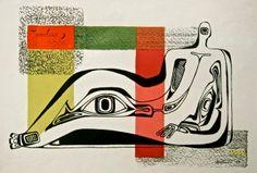 Dorr Bothwell, Ideograph, 1946, serigraph