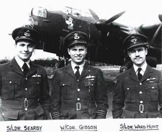 Three men who flew the Dambuster Lancasters.