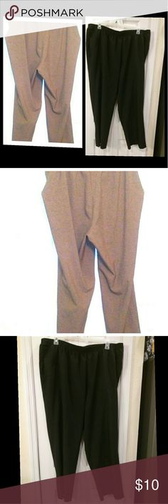 2 pairs sz 24 women's work slacks black/tan Both are in great condition! 2 pairs of women's plus size 24W Alia work slacks. One pair is black and the other pair is tan. Each pair has a comfortable elastic waist band. Machine wash warm on gentle cycle. Tumble dry low on gentle. Iron on low temperature. Made in Jordan. Smoke free home. Alia Pants Trousers