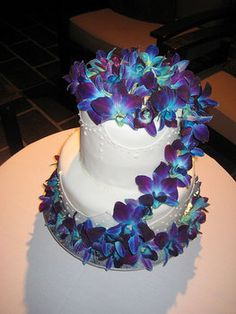 Wedding, Flowers, Reception, Cake, White, Blue, Ideas