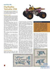 ABC Ctyrkolka Yamaha 350 - a model of Japanese ATV made of paper download for free without registration