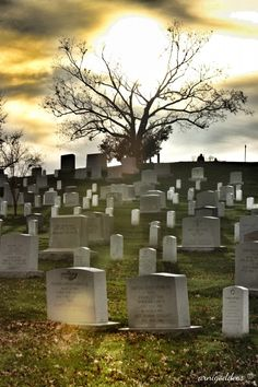 Arlington National Cemetery, Virginia. Today marks 150 years of soldiers being buried at the cemetery.